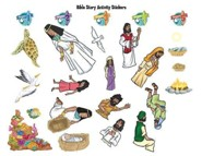 VBS 2016 Surf Shack: Catch the Wave of God's Amazing Love - Bible Story Activity Stickers