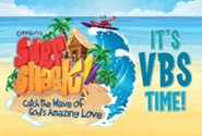 VBS 2016 Surf Shack: Catch the Wave of God's Amazing Love - Invitation Postcards (Pkg of 25)