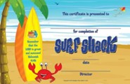 VBS 2016 Surf Shack: Catch the Wave of God's Amazing Love - Student Certificates (Pkg of 50)