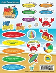 VBS 2016 Surf Shack: Catch the Wave of God's Amazing Love - Craft Theme Stickers (Pkg of 12)