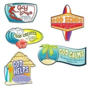 VBS 2016 Surf Shack: Catch the Wave of God's Amazing Love - Scripture Treasures (Pkg of 6)