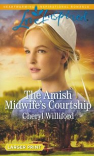 The Amish Midwife's Courtship, Large Print