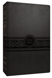 MEV Personal-Size Large-Print Reference Bible--imitation leather, charcoal