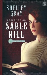 Deception on Sable Hill, Large Print