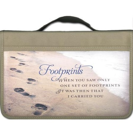 Footprints Prayer Bible Cover