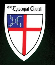 Episcopal Shield Decal:  - Adhesive-backed Pack of 25