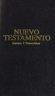 Pocket New Testament with Psalms and Proverbs-Rvr 1960, Imitation Leather, Black
