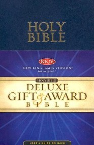 NKJV Gift & Award Bible, Leatherflex, Blue