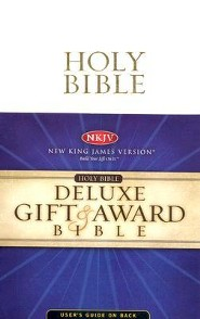 NKJV Gift & Award Bible, Leatherflex, White