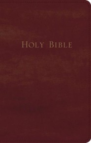 KJV Personal-Size Giant-Print Reference Bible--bonded leather, burgundy