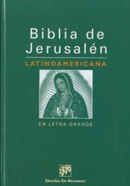 Biblia de Jerusalen Latinoamerican En Letra Grande-OS, Cloth, Thumb Index - Slightly Imperfect