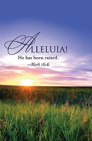 Alleluia! Easter Sunrise Bulletin 2013, Regular (Package of 50)  -