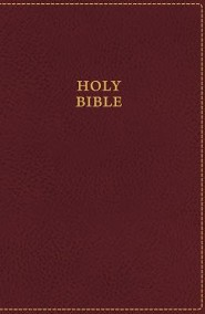 KJV UltraSlim Bible--soft leather-look, burgundy