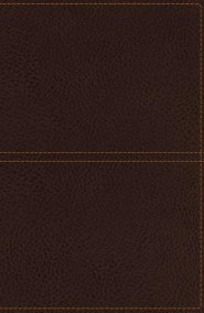 KJV Giant-Print Center-Column Reference Bible--soft leather-look, earth brown (indexed)