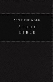 NKJV Apply the Word Study Bible--soft leather-look, dark brown