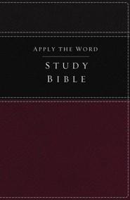 NKJV Apply the Word Study Bible--soft leather-look, burgundy/black (indexed)