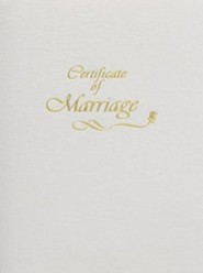 Contemporary Marriage Certificate Booklet with Traditional Service  -