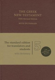 Greek New Testament, Fifth Revised Edition (UBS5) Red Hardcover With Dictionary