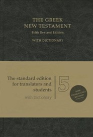 The Greek New Testament, Fifth Revised Edition (UBS5) Imitation leather black