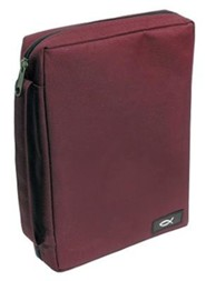 Fish Fabric Medium Burgundy Bible Cover