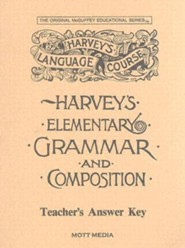 Harvey's Elementary & Composition Answer Key  -     By: Eric Wiggin