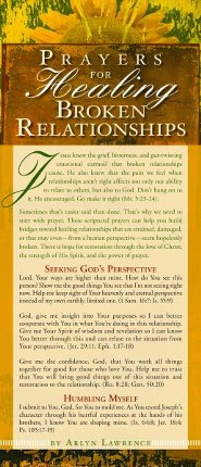 Prayers for Healing Broken Relationships Prayer Card, Pack of 50