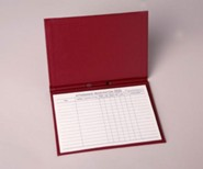 Attendance Registration Pad Holder (Cloth Covered)