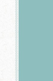 Hardcover Teal / White Large Print