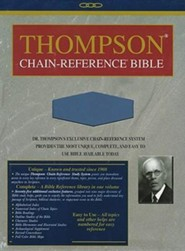 KJV Thompson Chain-Reference Bible, Handy Size, Blue Kirvella Imitation Leather, Thumb-Indexed - Slightly Imperfect  -