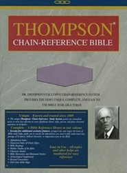 KJV Thompson Chain-Reference Bible, Handy Size, Lavender Kirvella Imitation Leather  -