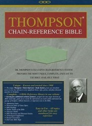 KJV Thompson Chain-Reference Bible, Handy Size, Sage Green Kirvella Imitation Leather
