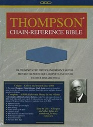 NIV Thompson Chain-Reference Bible, Handy Size, Blue Kirvella Imitation Leather, Thumb-Indexed 1984  -