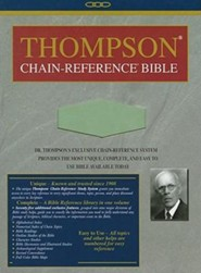 NIV Thompson Chain-Reference Bible, Handy Size, Sage Green Kirvella Imitation Leather 1984  -