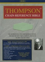 NIV Thompson Chain-Reference Bible, Handy Size, Sage Green Kirvella Imitation Leather, Thumb-Indexed 1984