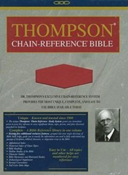 NIV Thompson Chain-Reference Bible, Handy Size, Red Kirvella Imitation Leather, Thumb-Indexed 1984  -