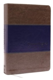 NKJV Chronological Study Bible--soft leather-look, rich stone/rich midnight