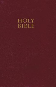 NKJV Pew Bible, Burgundy Hardcover