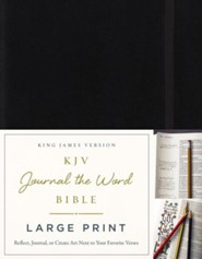 KJV Journal the Word Bible, Large Print, Hardcover, Black, Red Letter Edition
