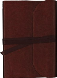 KJV Journal the Word Bible, Large Print, Premium Leather, Brown, Red Letter Edition