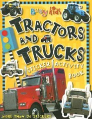 Busy Kids Sticker Book Tractors Truck