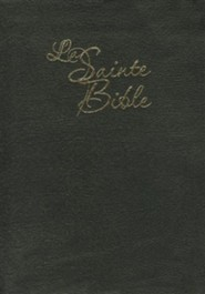 La Sainte Bible- Leather, Black, Thumb Index