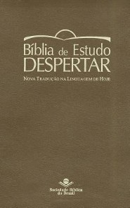 Portuguese Life Recovery Study Bible, Imitation Leather, Brown
