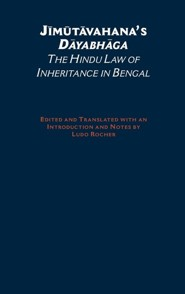 Jimutavahana's Dayabhaga: The Hindu Law of Inheritance in Bengal