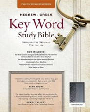 ESV Key Word Study Bible, Imitation Leather, Black, Thumb-Indexed