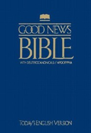 TEV Good News Bible with Deuterocanonicals/Apocrypha, Paper, Blue  -     