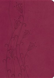 NKJV Giant Print Reference Bible Imitation Leather, Cranberry  -