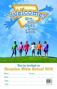 Welcome! Give and Receive Gods' Love - Invitation Poster