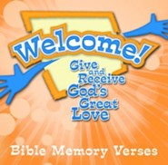 Welcome! Give and Receive Gods' Love--Bible Memory   Verses DVD  -