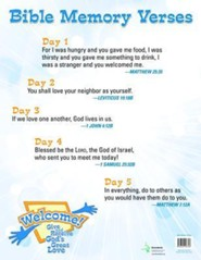 Welcome! Give and Receive Gods' Love - Bible Memory Verses Poster