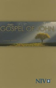NIV Large-Print Gospel of John--softcover, tree